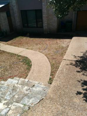 Compacted soil, Lisa's landscape, austin