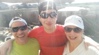 This is my husband and our youngest son (middle) with high functioning Autism. Both of our boys are Autistic and we have continued to shared our story about how gardening has been a great therapy for all of us. Always wear protection; sunscreen, hat, sunglasses, gloves and good shoes make for a better gardening experience over all.