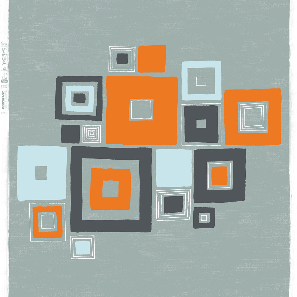 Lisa Lounge Eclectic Geometric - Contrast Squares