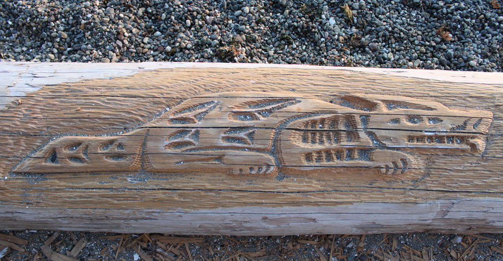 Lisa Lounge Driftwood Carving in West Seattle