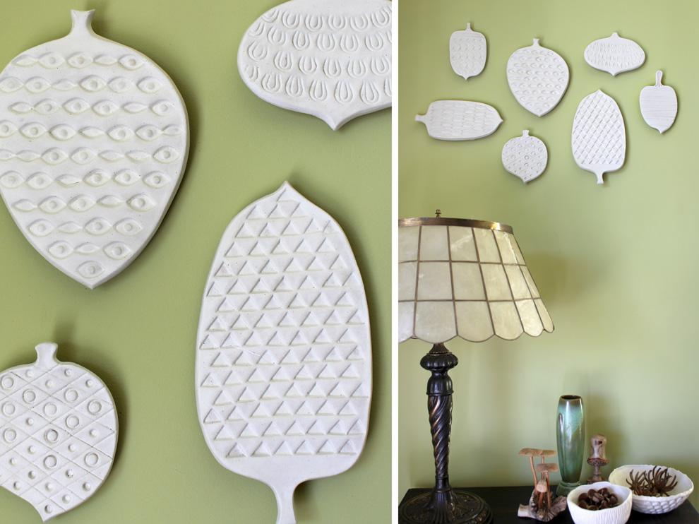MODbotanicals Ceramic Pine Cones Wall Art