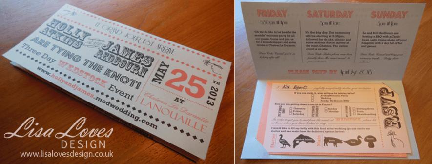Flight Ticket Wedding Invitation