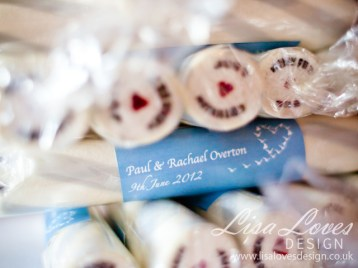 Brighton Rock Personalised Wedding Favours