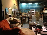 The rehearsal dressing stage