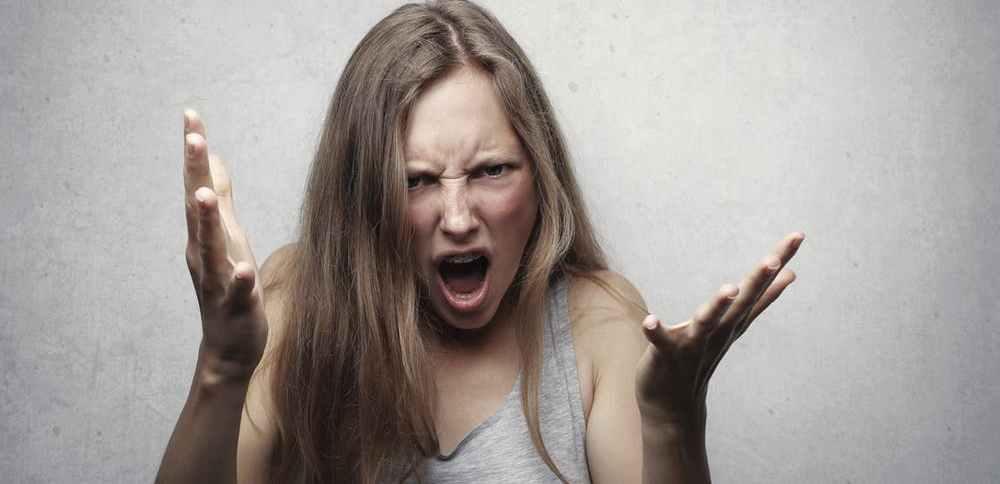 angry woman yelling