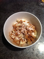 Cinnamon Dusted Apples with Cottage Cheese
