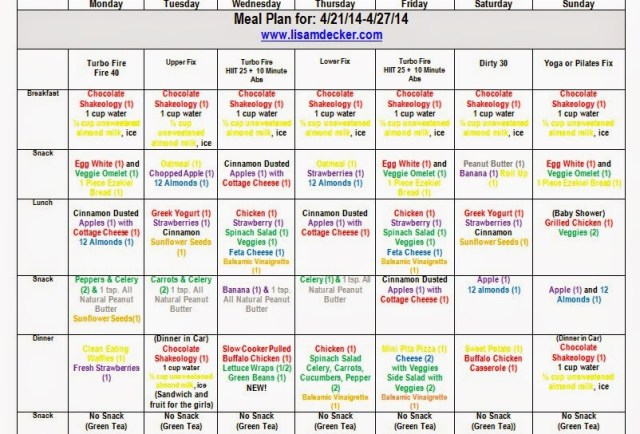 Clean Eating Meal Plan, 21 Day Fix Meal Plan
