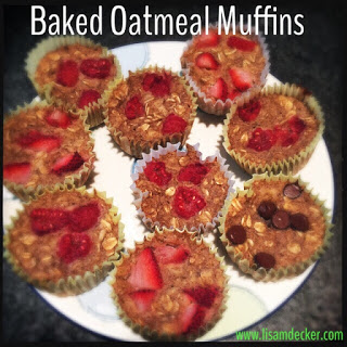 Clean Eating, Meal Planning, 21 Day Fix, Baked Oatmeal, Baked Oatmeal Muffins, Healthy Breakfast, Successfully Fit, Lisa Decker