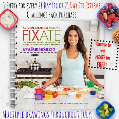 21 Day Fix, 21 Day Fix Extreme, Fixate Cookbook, 21 Day Fix Recipes, 21 Day Fix Cookbook, Lisa Decker, Successfully Fit, Clean Eating, Portion Control, Fixate Giveaways, Fixate Recipes