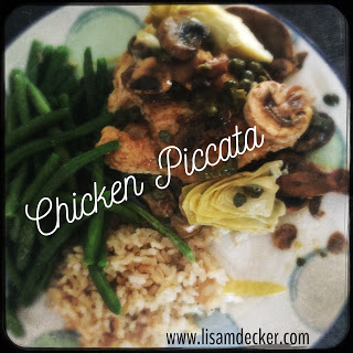 Chicken Piccata, 21 Day Fix Recipes, 21 Day Fix Dinners, Meal Planning, Chicken Recipes, Healthy Recipes