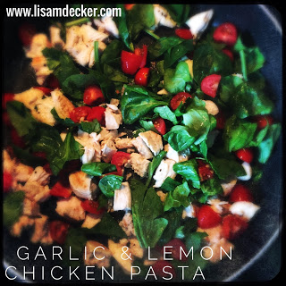 Garlic and Lemon Chicken Pasta, Clean Eating, Healthy Dinners, Healthy Pasta Recipes, Meal Planning, 21 Day Fix Dinners