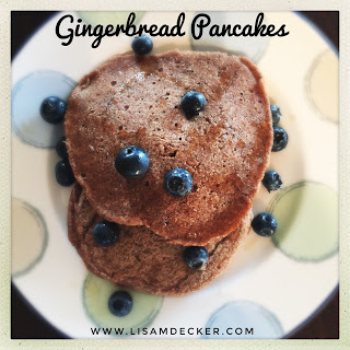gingerbread pancakes, pancake recipe, whole wheat pancakes, clean eating, healthy eating, breakfast recipes, meal planning, 21 day fix approved pancakes, successfully fit, Lisa Decker