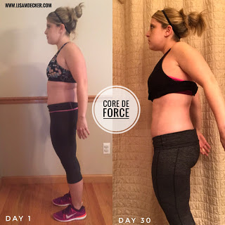 Core De Force, Core De Force Results, 3 Day Refresh Results, Core De Force Meal Plan, Core De Force Week 4, Core De Force calendar, Successfully Fit, Lisa Decker