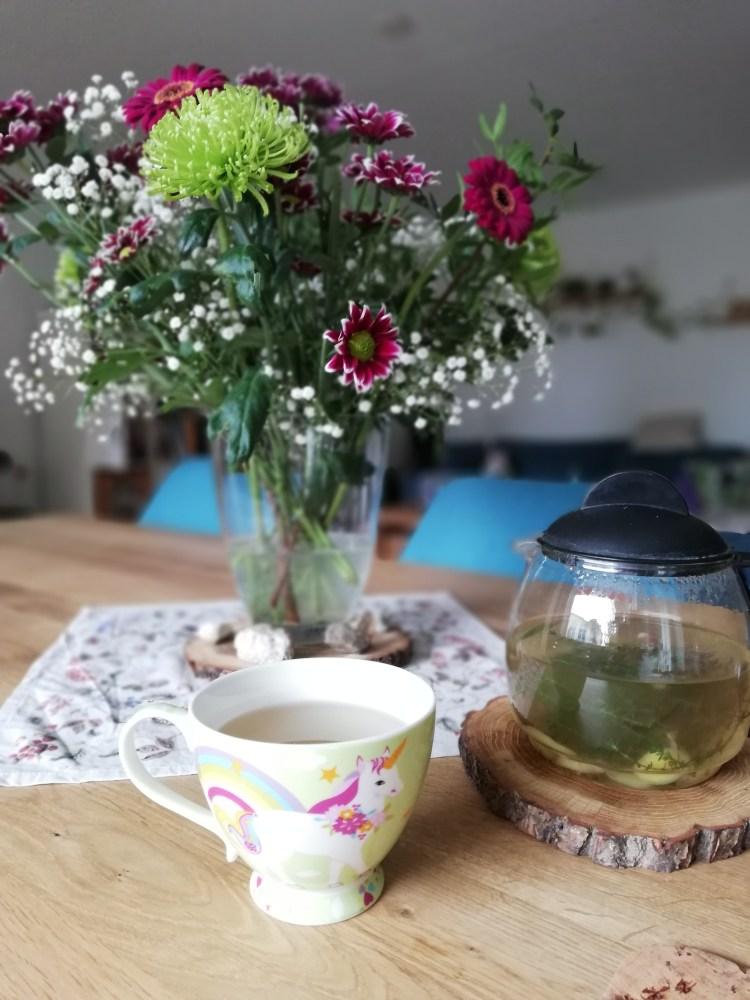 Frischer Tee für Immunsystem