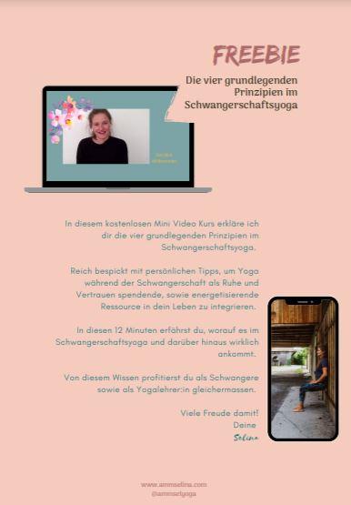 Freebie Selina Ammann Yogalehrerin Schwanger Rückbildung JA! Yoga Festival Zürich