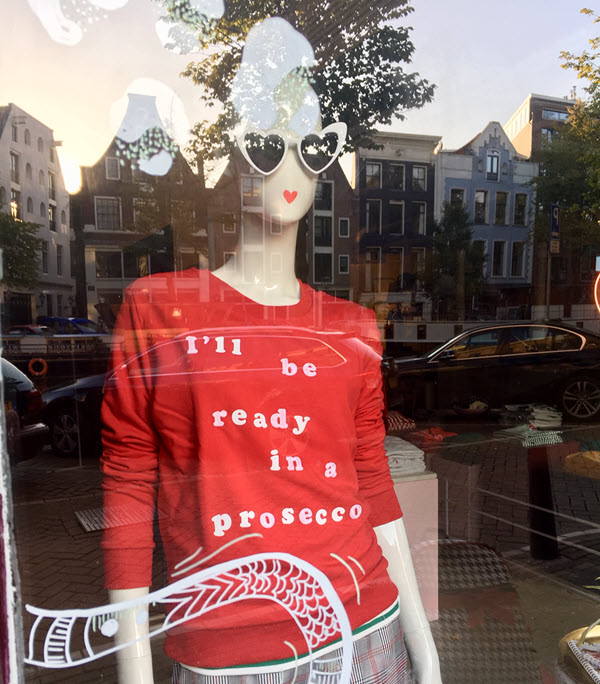 red prosecco shirt