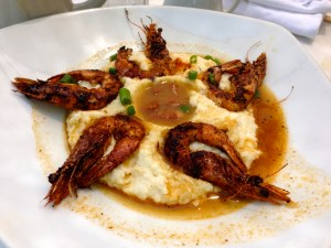 Shrimp and grits in the Riverbend