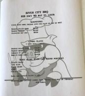 River City BBQ menu
