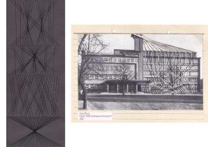 Thread drawings- Asymmetrische Information Lisa Premke Chemnitz Wolkenkuckucksheim
