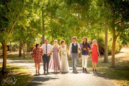 Bridal party, bridal photos Lismore House, Martinborough