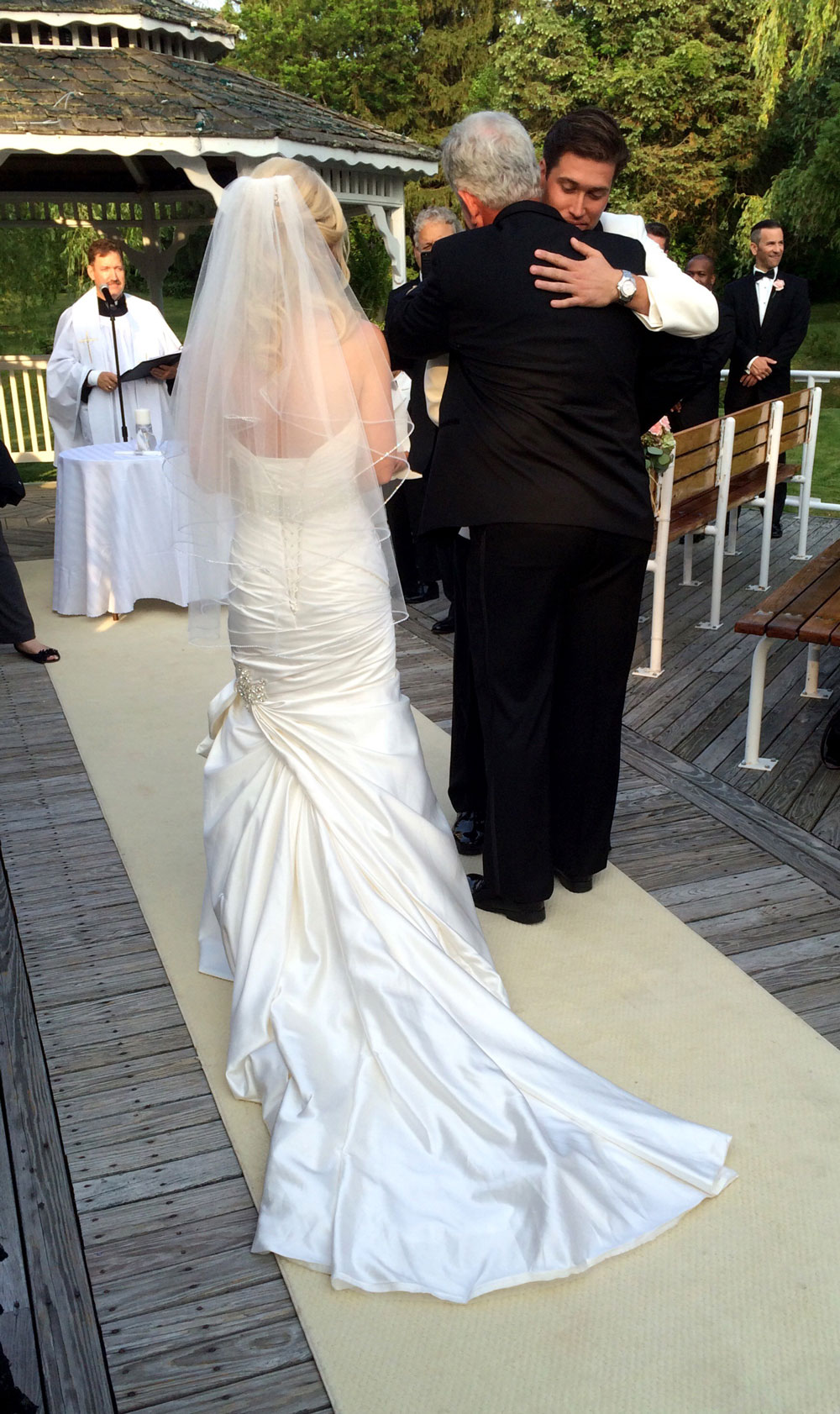 Lisa robertson in wedding dress - You Can Tell That There Is A Lot Of Love And Respect Between Bryan And His Future Inlaws As He Gives Leigh S Father A Hug Before Taking Her Hand