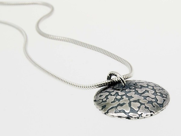 Eco Vegan Recycled Silver Pendant | Lisa Rothwell-Young