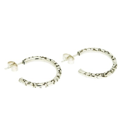 Ethical Recycled Silver Hoop Earrings   Lisa Rothwell-Young