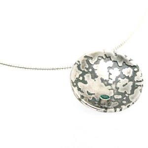 Ethical Recycled Silver Sapphire Pendant | Lisa Rothwell-Young