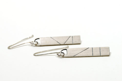 Eco friendly vegan drop earrings | Lisa Rothwell-Young