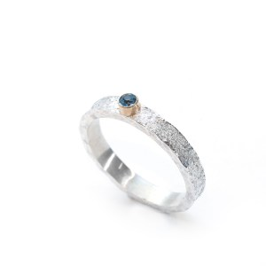 vegan silver and gold ring   Lisa Rothwell-Young
