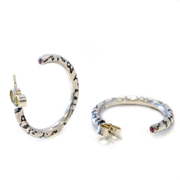 vegan silver hoop earrings | Lisa Rothwell-Young