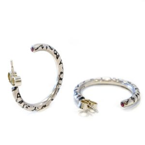 vegan silver hoop earrings | Lisa Rothwell-Young