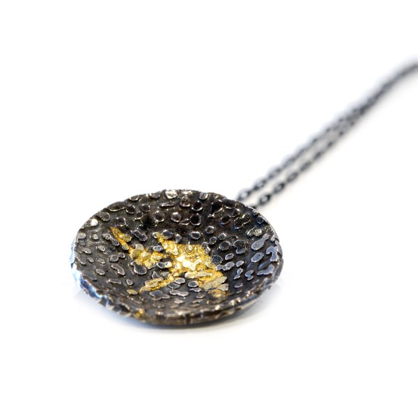 Vegan silver and gold pendant | Lisa Rothwell-Young