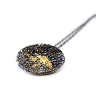 Vegan silver and gold pendant