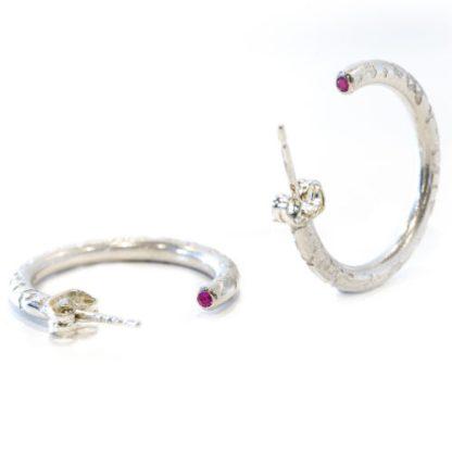 vegan hoop earrings