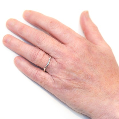 Vegan Wedding Ring - gold platinum shaped to fit | Lisa Rothwell-Young