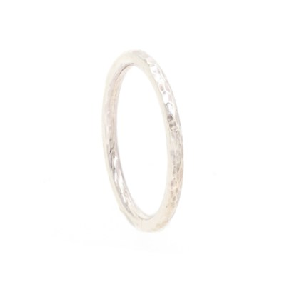 Recycled Wedding Ring - Ripple Textured Gold Platinum | Lisa Rothwell-Young