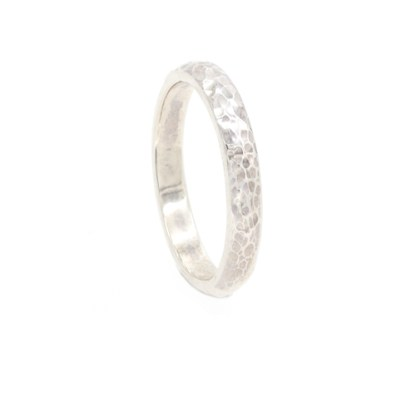 Responsibly Sourced Wedding Ring - Ripple Textured Gold Platinum   Lisa Rothwell-Young