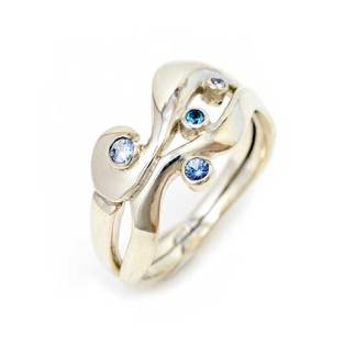 Unconventional engagement ring, Flow ring, white gold|Lisa Rothwell-Young