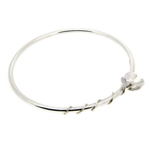 Recycled sterling silver flora flower bangle