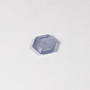 Ethical Hexagon Cut Blue Chalcedony|Lisa Rothwell-Young