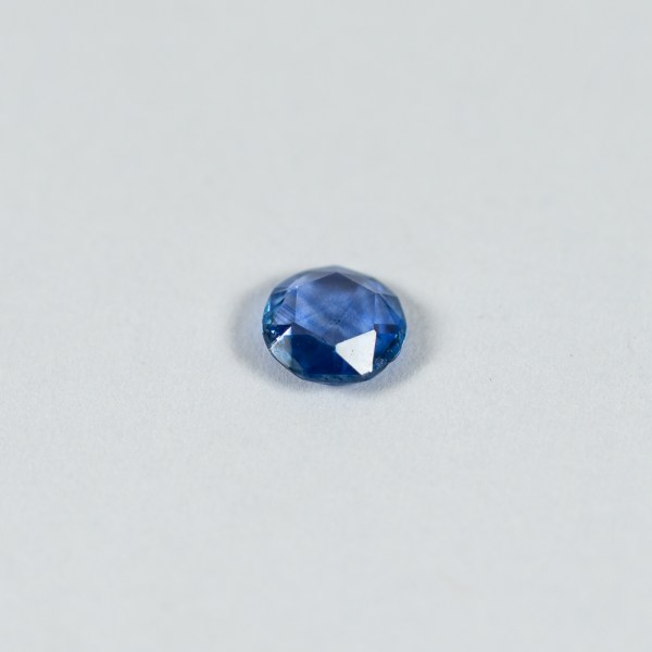 Ethical Round Rose Cut Blue Sapphire|Lisa Rothwell-Young