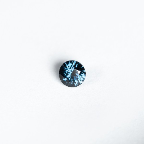 Ethical Round Teal Blue Spinel|Lisa Rothwell-Young
