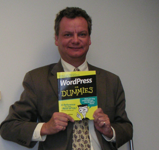 I got my copy of WordPress For Dummies - - W00T!