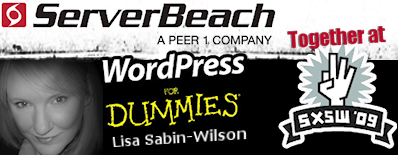 ServerBeach at SXSW with Lisa Sabin-Wilson, author of WordPress For Dummies