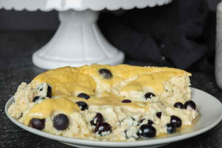 Fitness Rezept Protein Kuchen Blueberry Cheesecake Lisasbuntewelt