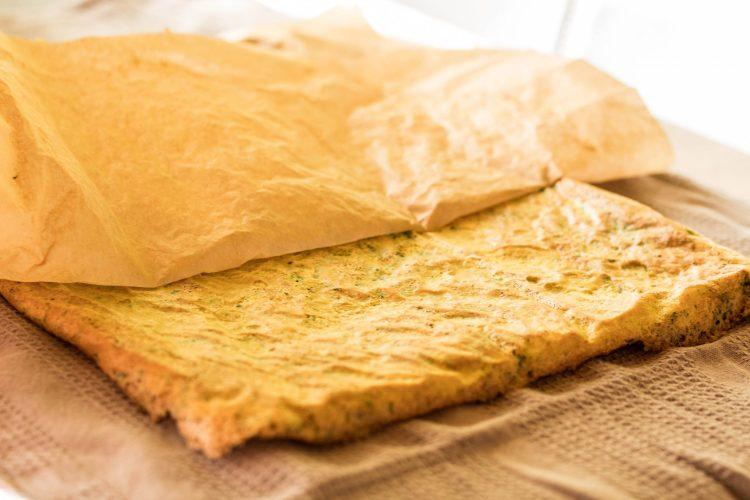 Teig für eine Low Carb Omelettrolle