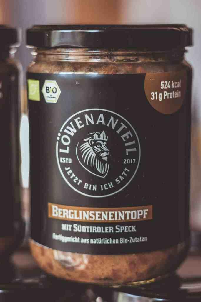 Berglinseneintopf von Löwenanteil - gesundes Fertiggericht aus dem Glas.