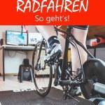 B Radtraining Winter Rollentraining Pain Cave Ausrüstung Rot