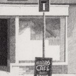 Prints Cafe Street Sign Marios Etching